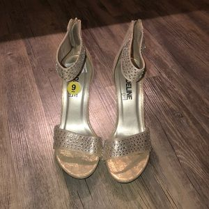 Shoes - Madeline girl gold shimmer heels